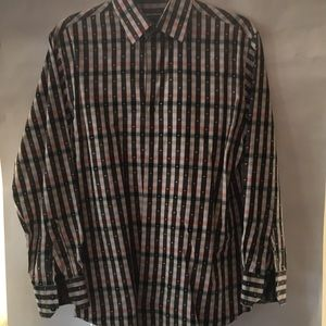 Men's dress shirt size small multi colored
